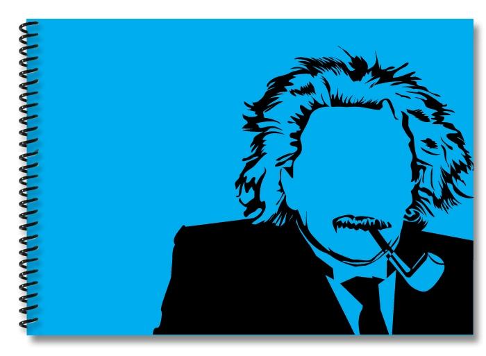 Einstein-lightblue-black
