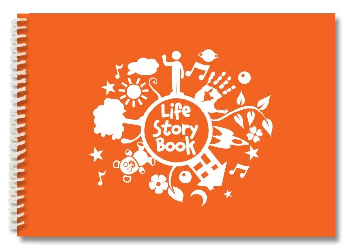 life-story-orange-white