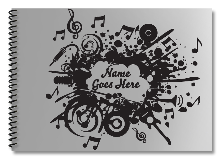 music-collarge-silver-black