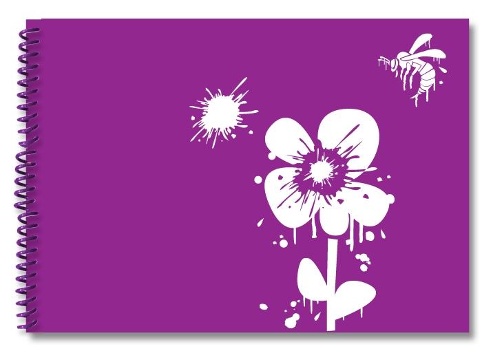 wasp-flower-purple-white