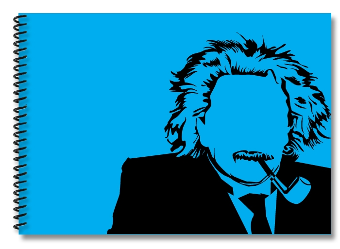 Einstein-lightblue-black